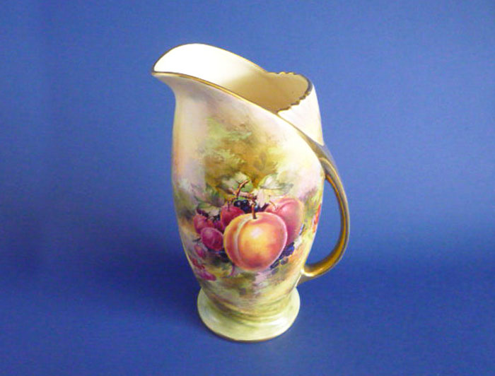 Large Royal Winton Hand Painted Fruit Rosyth Pitcher